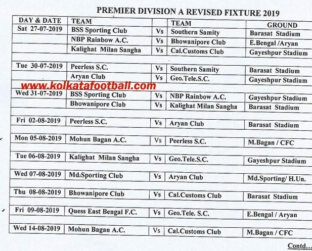 ifa cfl premier-a revised fixture 2019-20