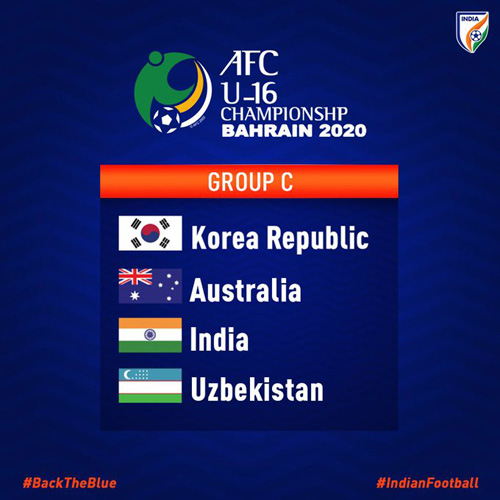 India in Pot 3 for official draw for AFC U-16 Championship